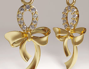3d printable ribbon bow pendant jewelry