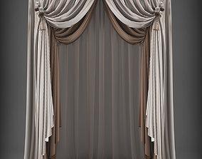 Curtain window 3D asset VR / AR ready
