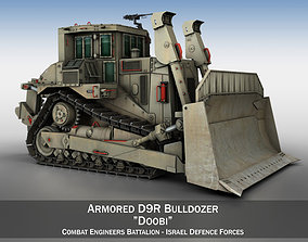 Armored D9R Bulldozer Doobi 3D model