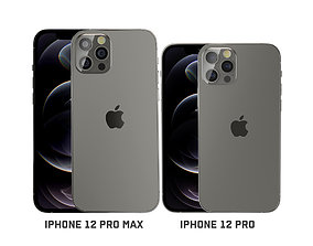 3D model iPhone 12 pro and iPhone 12pro max