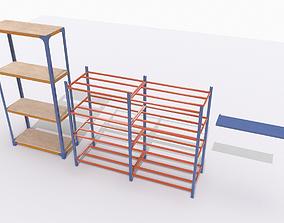 3D model Industrial shelves 2