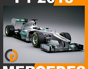 F1 2013 Mercedes W04 AMG Petronas 3D model