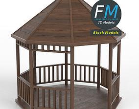 Kiosk pavilion gazebo 3D
