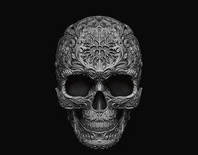 Skull ornamental 3D print model