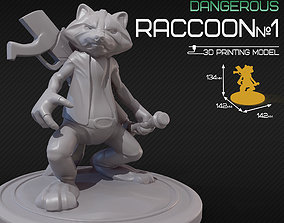 3D printable model Dangerous raccoon 1