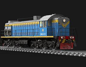 omsk Soviet diesel locomotive TEM-2 3D model