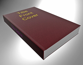 3D Red Hardcover book