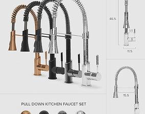 Pull-Down Kitchen Faucet Set 01 3D model