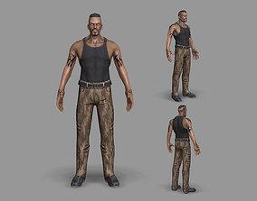 Gangster soldier 3D asset