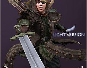 3D model Eva Hunter Light Version