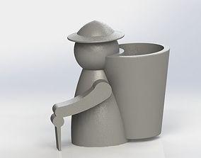 3D printable model Farmer Penholder