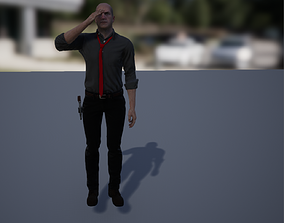 3D asset rigged Noir Detective or just a man in a suit