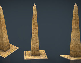 isometric Obelisk 3D model low-poly