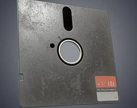 Floppy disk 5 25 inch 3D asset