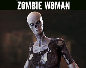 Zombie Woman 3D asset rigged