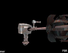 3D asset Ruty Stationed Harpoon Gun