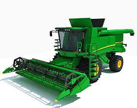 3D model Green Combine Harvester