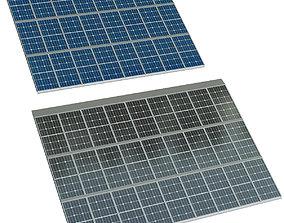 3D model Solar cell panel sunny