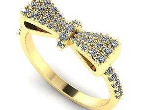 jewelery Beautiful Bow Ring 15 3D printable model