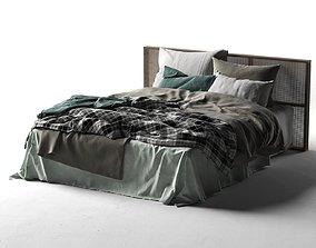 3D model Queen Bed 2