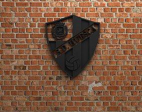 3D model SD Huesca Logo