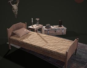 Medieval Tavern Bedroom Props Pack 3D model