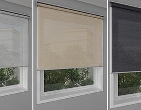 3D Roller blinds IKEA and window - SKOGSKLOVER