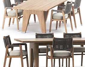 ORTIGIA CHAIR and MONREALE TABLE by flexform 3D model