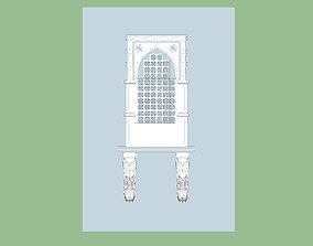indian stone jharokha 3d modal Low-poly 3D model rigged
