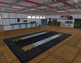 Garage 3D asset game-ready hollow
