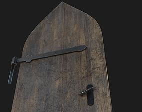 Low poly Medieval Door 3D model realtime