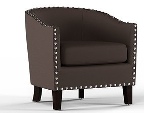 3D model Leather Room Chair