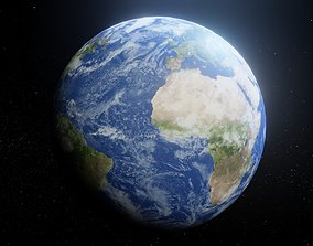 game-ready Photorealistic Earth 8k Textures 3D Model