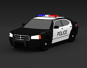 POLICE CAR muscle 3D model