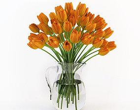 3D Tulips in a jug modern