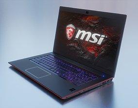 3D model Gaming Laptop MSI