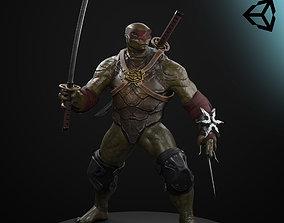 ninja turtle 3D model rigged