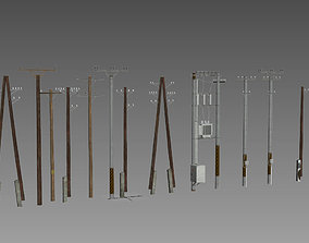 powerline Electric Pole 3D model