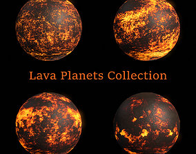 Lava Planets Collection - 8k PBR 3D