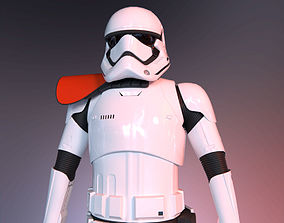 3D asset low-poly Stormtrooper officer - First Order