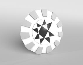 3D asset Lowpoly Shield 002