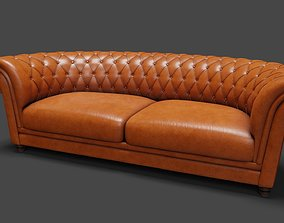 Leather Sofa 3D model VR / AR ready PBR