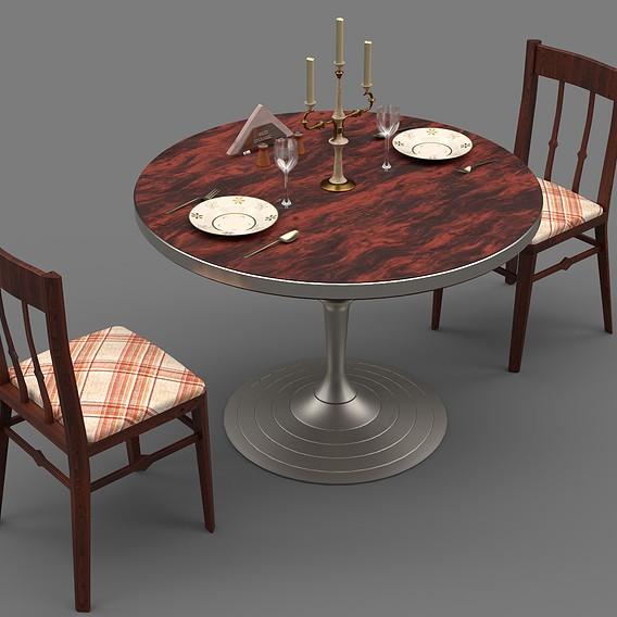 Circular Food Table