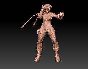 3D printable model cammy street fighter 5