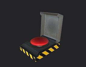 Dirty Red button PBR 3D asset