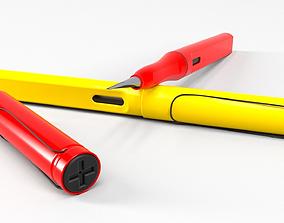 3D model Modern plastic fountain pen