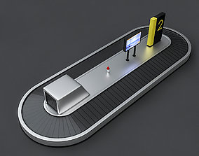 Airport Luggage Model 3D asset