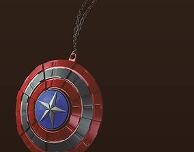 Captain America shield necklace pendent 3D printable model