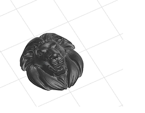 Realistic Lion 3D printable model