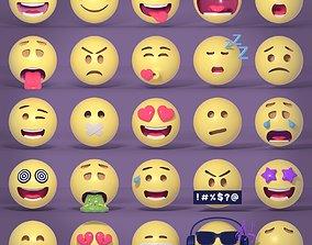 3D model Emoticons - Emoji - Smiley Pack